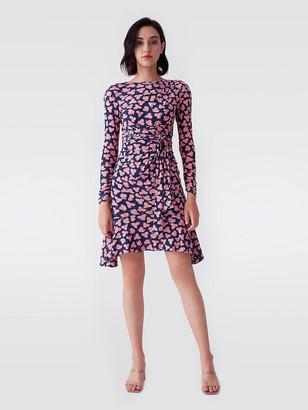 Diane von Furstenberg Sahara Mesh Belted Mini Dress