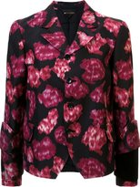 Comme des Garcons abstract print fitted jacket