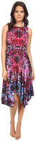 London Times Twin Scroll Mirror Hanky Hem Dress