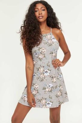 Ardene Basic Halter Floral Skater Dress