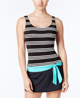 Jag Harbour Stripe Belted Swimdress