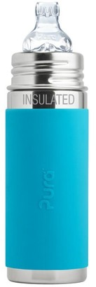 Pura Sippy Bottle Insulated Stainless Steel Aqua 260ml