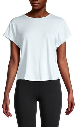 Andrew Marc Knotted Cutout Back T-Shirt