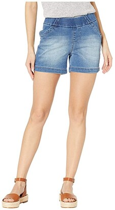 Jag Jeans 5 Gracie Pull-On Shorts in Denim (Horizon Blue) Women's Shorts