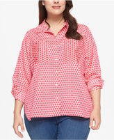 Tommy Hilfiger Plus Size Printed Shirt