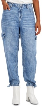 INC International Concepts Inc Cropped Acid-Wash Jeans, Created for Macy's