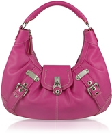 Buti Large Pebble Leather Hobo Bag