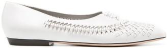 Saint Laurent Nina pointed-toe ballerina shoes