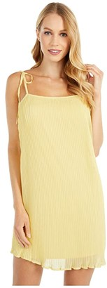 BCBGeneration Cocktail Pleated Strap Dress - TGR6278149 (Citrus Yellow) Women's Dress