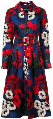 Samantha Sung Floral Flared Shirt Dress