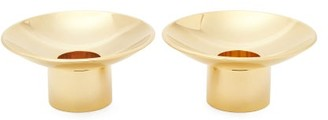 AERIN Set Of Two Evelina Gold-plated Candle Holders - Gold
