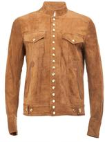 Takahiromiyashita The Soloist - snap button jacket - men - Lamb Skin/Cashmere/Wool/Calf Suede - 50