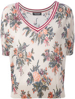 Twin-Set floral shortsleeved sweater - women - Cotton - L