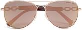 MICHAEL Michael Kors Women's Fiji Glam Chain Link Sunglasses Rose Gold