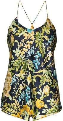 Olivia von Halle Bella Debauchery floral-print silk pyjamas