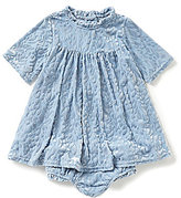 Jessica Simpson Baby Girls 12-24 Months Burnout Velvet Dress