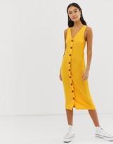Only rib button through dress