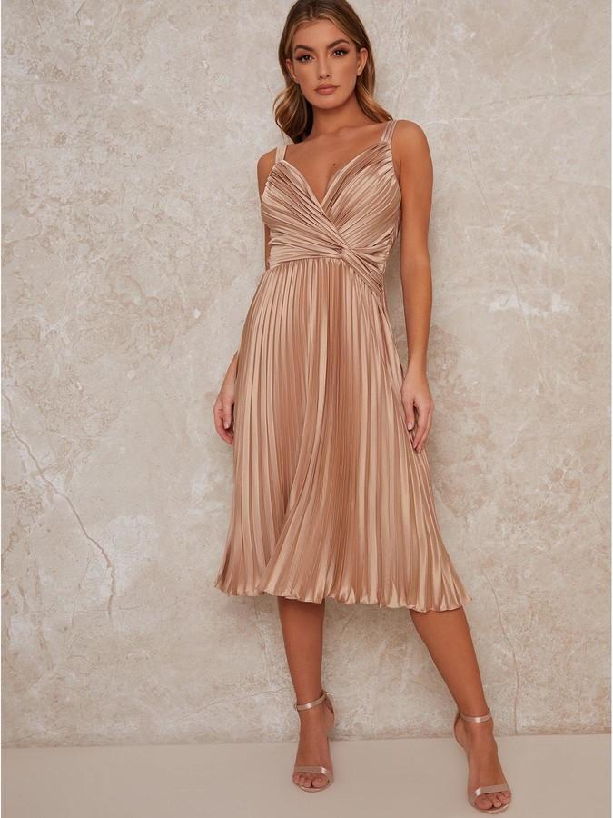 Chi Chi London Tayla Bridesmaid Dress - Champagne
