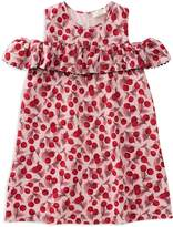 Kate Spade Girls' Cherry-Print Ruffle-Sleeve Dress