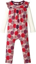 Tea Collection Nara Double Decker Romper (Baby) - Pink Ribbon -6-12 Months