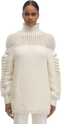 LIYA Structured Wool Blend Knit Sweater