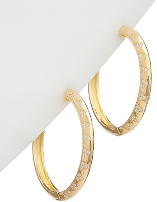 Alanna Bess Limited Collection 14K Over Silver Cz Medium Hoops