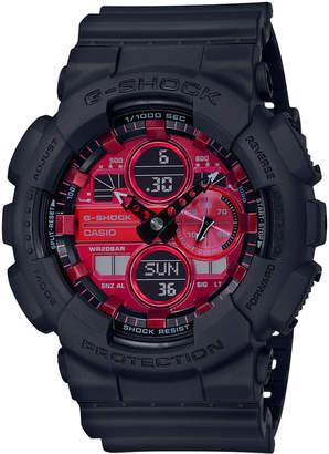 G-Shock G Shock Analog-Digital GA140AR-1A Black & Red Watch