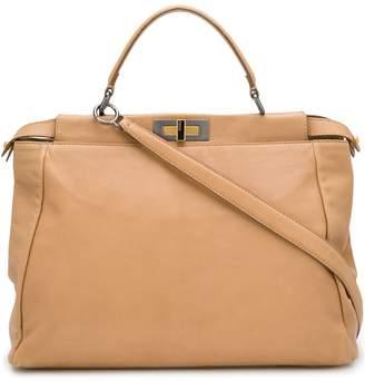 Fendi Pre Owned Double Twist-Lock 2way Bag