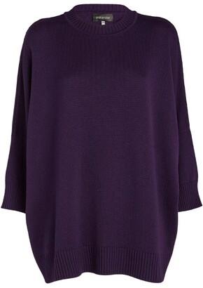 eskandar Sloped-Shoulder Cropped-Sleeved Sweater