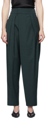 Low Classic Blue Wide Tuck Pants