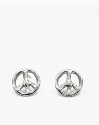 Madewell Charlotte Cauwe Studio 1969 Peace Sign Stud Earrings