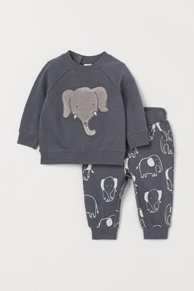 H&M Sweatshirt and Pants - Gray