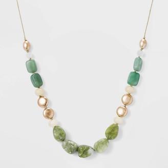 Universal Thread emi-Preciou And Green Aventurine Beaded Cord Necklace - Univeral ThreadTM