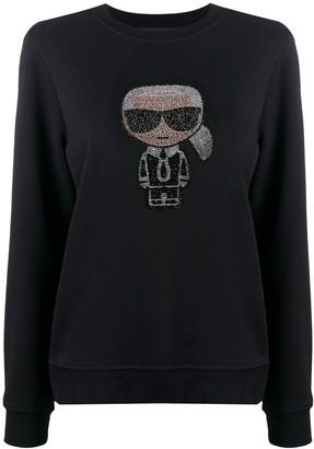 Karl Lagerfeld Paris Ikonik rhinestone sweatshirt