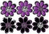 Presto Wall Decals Animal Print octi- petal Flowers Wall Stickers, Decals