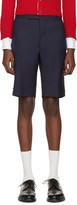 Thom Browne Navy Classic Trompe Loeil Backstrap Shorts