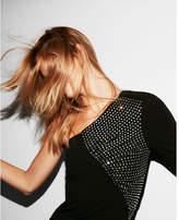 Express one shoulder studded dress