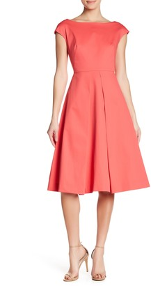 Milly Clara Boatneck Fit & Flare Dress