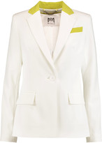 Milly Two-tone cady blazer