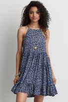 American Eagle Outfitters AE Tie Side Babydoll Keyhole Dress