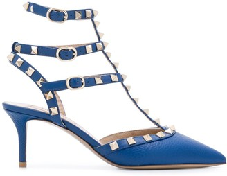 Valentino Rockstud detail caged pumps