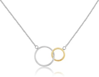 Auree Jewellery Kelso Sterling Silver & Yellow Gold Rings Necklace