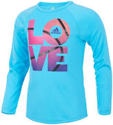 adidas Short Sleeve Crew Neck T-Shirt-Toddler Girls