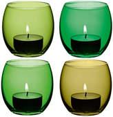 LSA International Coro Assorted Tealight Holders - Set of 4 - Leaf
