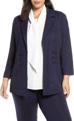 Ming Wang Ring Detail Knit Jacket