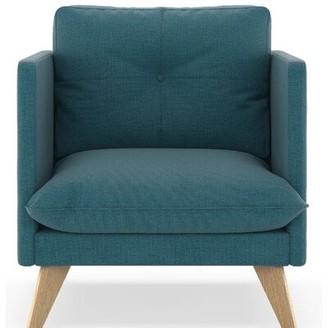 Crittenden Armchair Corrigan Studio Fabric: Aegean Blue, Leg Color: Natural