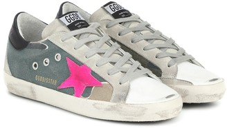 Golden Goose Superstar canvas sneakers