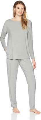 Hanro Women's Natural Elegance Long Sleeve Pajama Set