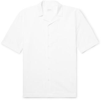 Sunspel Camp-Collar Textured-Cotton Shirt