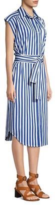 Derek Lam Sleeveless Striped Shirtdress
